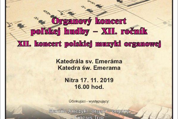 Organový koncert poľskej hudby na hrade